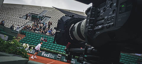 Freelance Sports Cameraman at the French Open