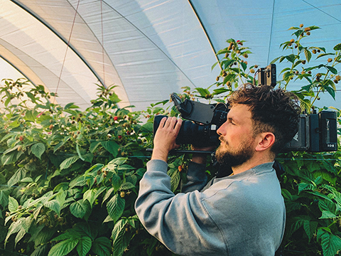Freelance Videographer with camera