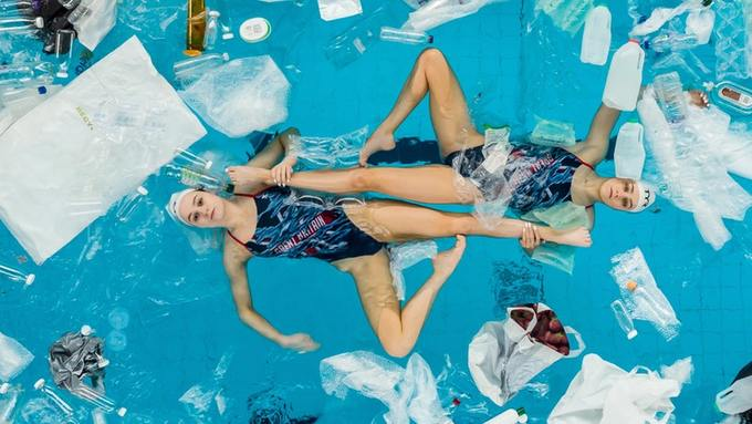Swimming in plastic