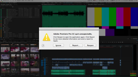 Dealing with crashes in Premiere Pro
